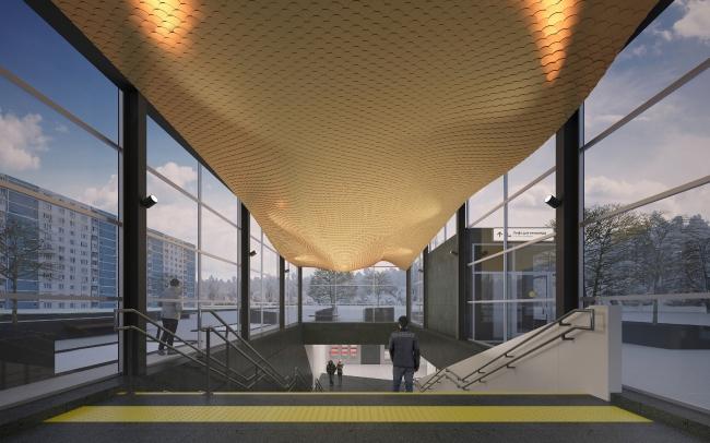 Концепция мастерской za bor для станции «Нагатинский затон» победила в конкурсе (фото 7)