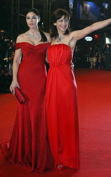 Моника Беллуччи и Софи Марсо в Dior