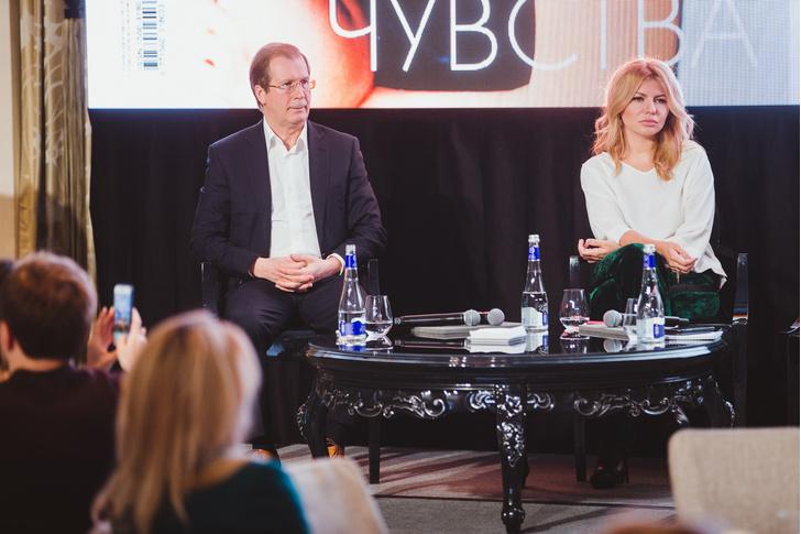Виктор Шкулев (Hearst Shkulev Publishing) и Надежда Стрелец (ELLE)