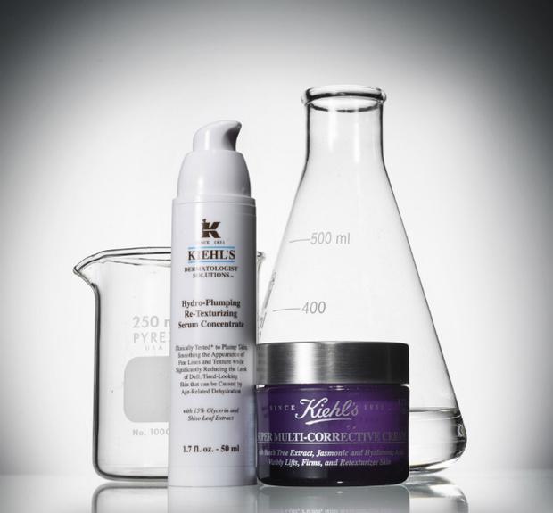 Сыворотка для увлажнения лица Hydro-Plumping Re-Texturizing Serum Concentrate и антивозрастной крем Super Multi-Corrective Cream, Kiehl's