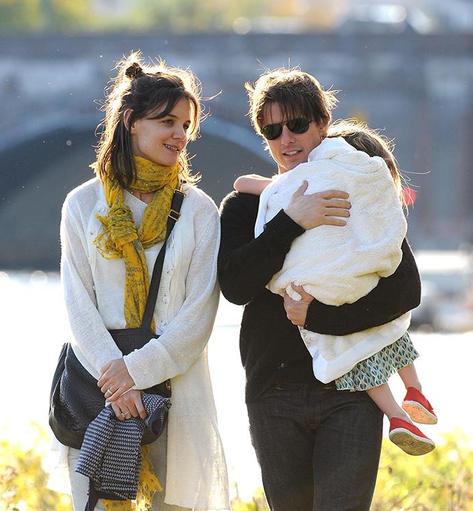 Кэти Холмс и Том Круз с дочерью