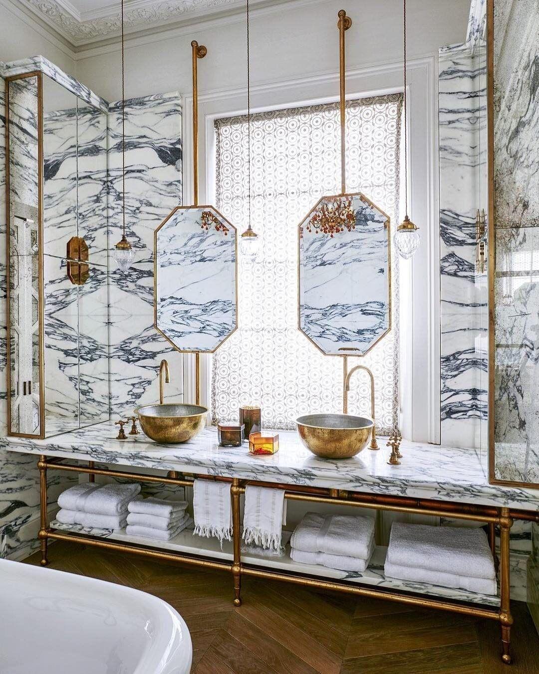 Мрамор в ванной комнате: 25+ примеров (галерея 1, фото 1)