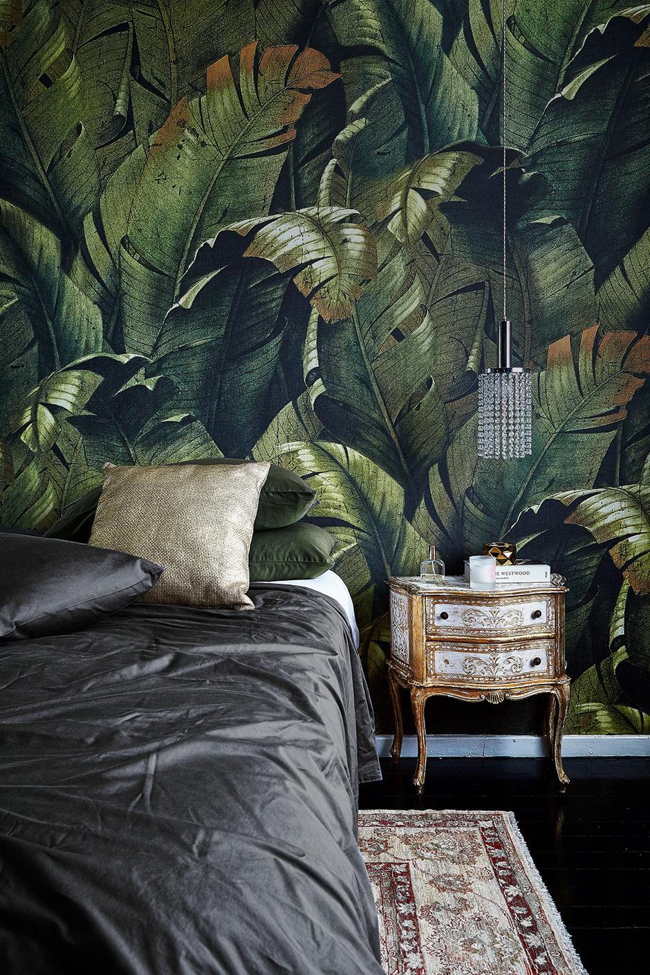 Тропические принты в интерьере: 20 примеров (галерея 0, фото 0)