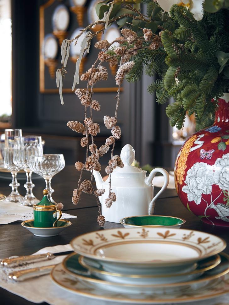 Классический подход: рождественская сервировка от Richard Ginori (фото 6)