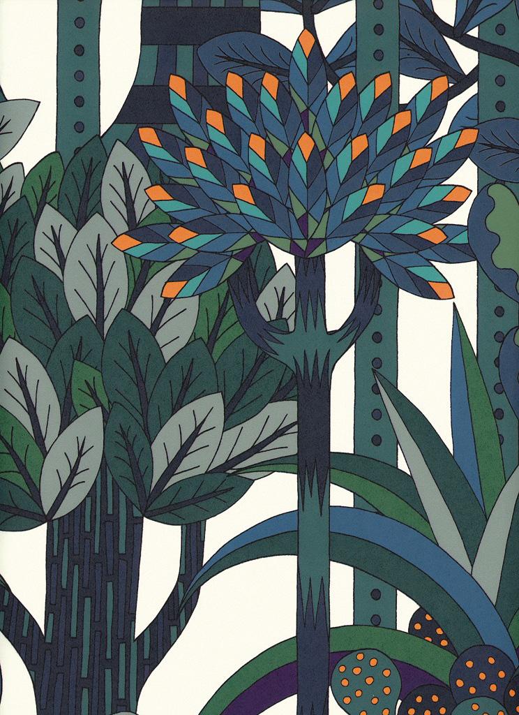 Ткань Jardin D'Osier, дизайн Пьер Мари, Hermès.