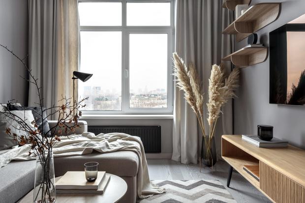 Стиль 50-х: квартира в Москве  42 м² (фото 0)