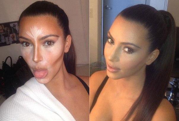 Ким Кардашьян Instagram скульптурирование лица фото