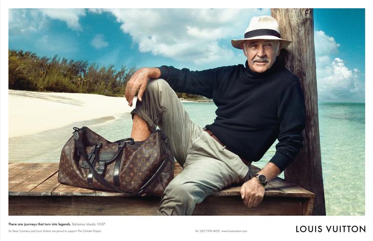 Шон Коннери в рекламной кампании Louis Vuitton