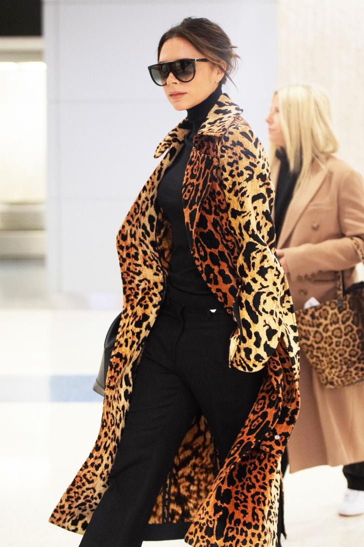 Как носить леопард: новый выход Виктории Бекхэм (фото 0)