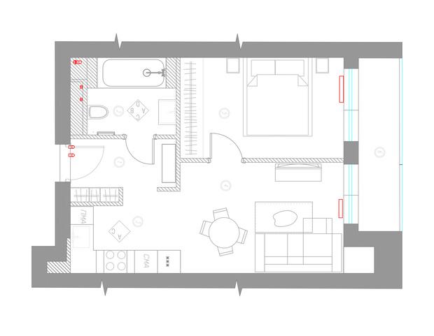 Квартира 46 м²: проект Ольги Луис (фото 11)