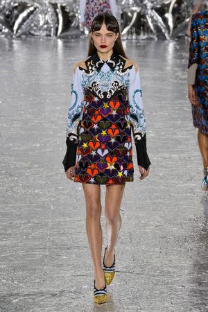 Показы мод Mary Katrantzou Осень-зима 2016-2017 | Подиум на ELLE - Подиум - фото 4514