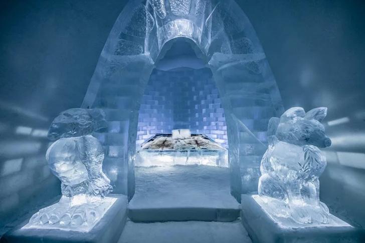 В Швеции открылся ледяной отель (фото 0)