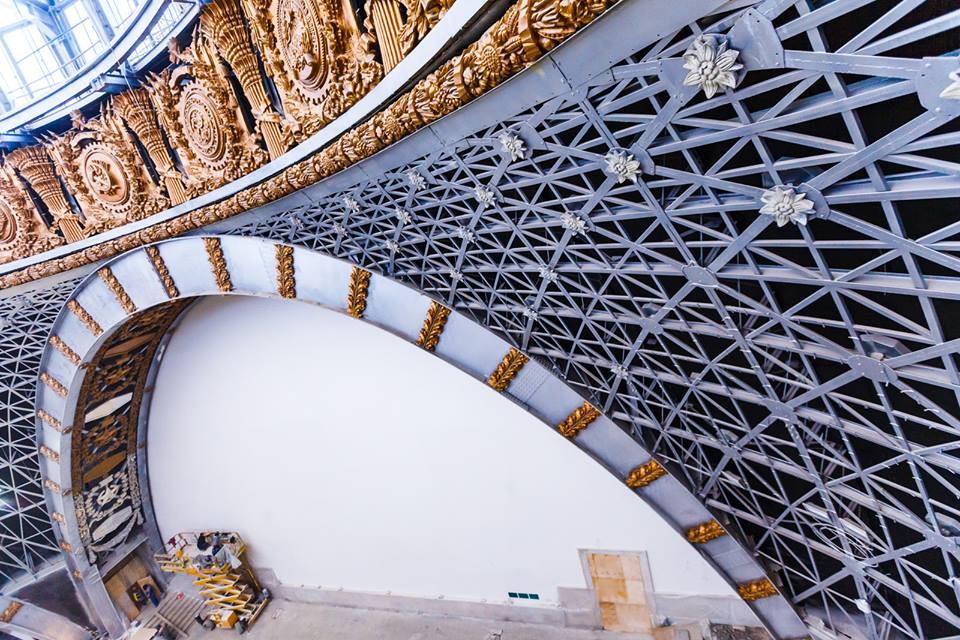 Продолжается реставрация павильона «Космос» на ВДНХ | галерея [1] фото [5]