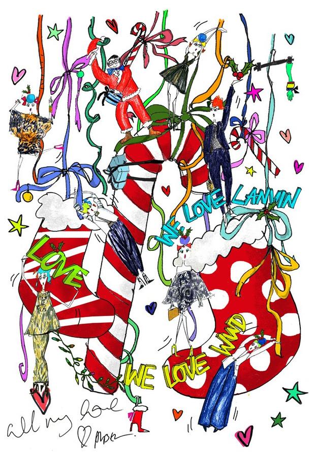 Рождественский чулок от Lanvin