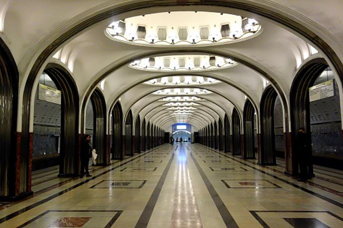 """Станция """"Маяковская""""."""