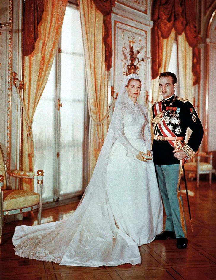 Княгиня Грейс с супругом, князем Монако Ренье III