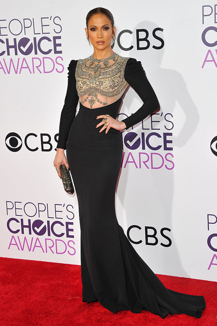 Дженнифер Лопес в Reem Acra на People's Choice Awards