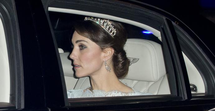 Кейт Миддлтон вышла в свет в любимой тиаре принцессы Дианы