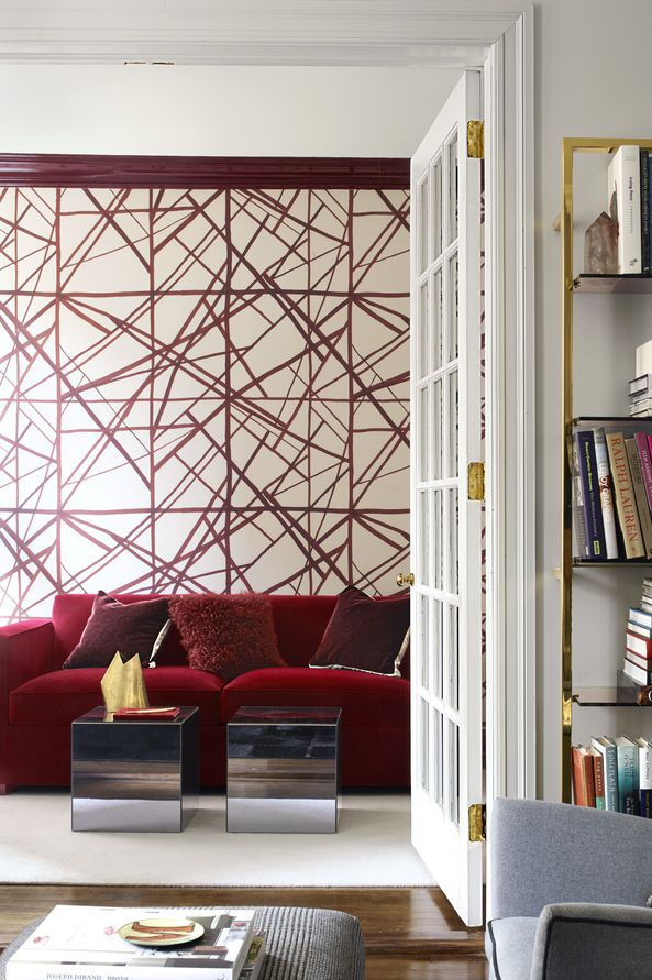 Геометрический принт: 10 интерьеров (галерея 0, фото 3)