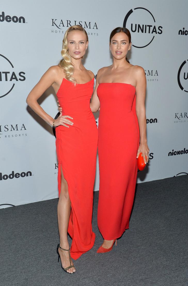 Ladies in red: Ирина Шейк и Наташа Поли на гала-вечере в Нью-Йорке фото [2]