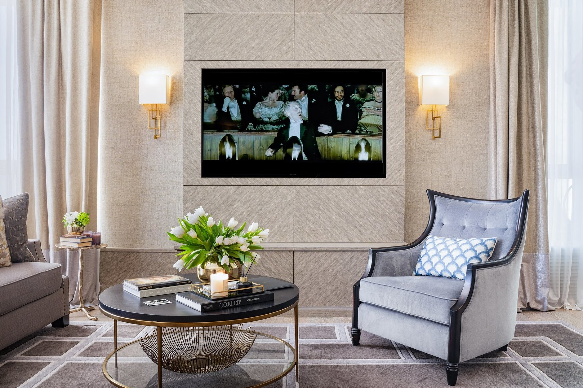 Телевизор в интерьере: 30 примеров оформления (галерея 1, фото 2)