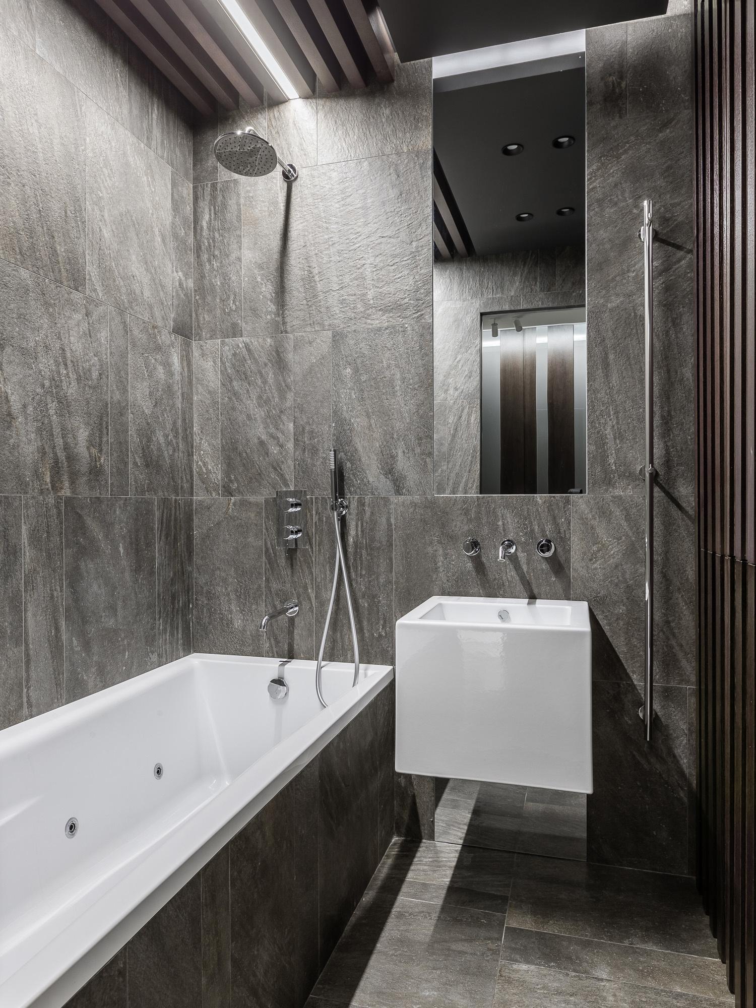 Серый цвет в ванной комнате: 15+ примеров и решений (галерея 0, фото 0)