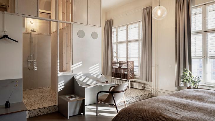 Монохромный отель Michelberger в Берлине (фото 2)