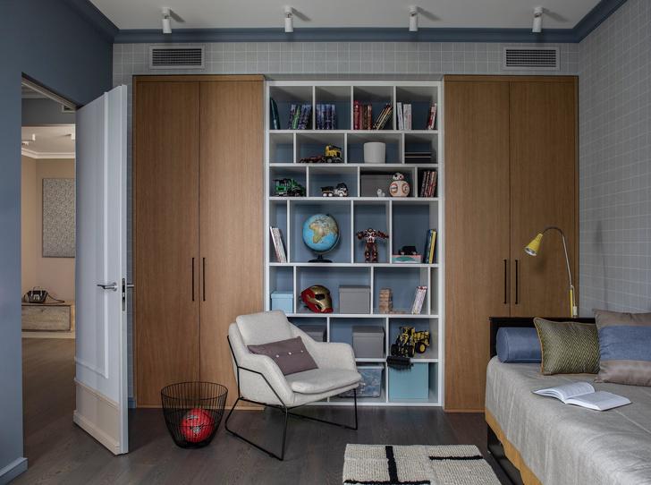 Квартира в серо-голубой гамме (фото 5)