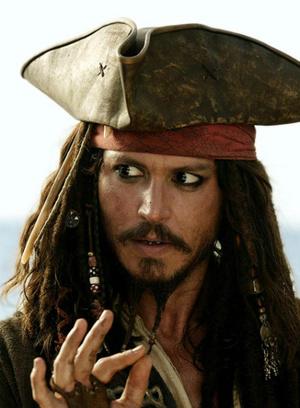 Джонни Депп в фильме «Пираты Карибского моря: Сундук мертвеца»