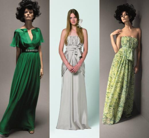 Зеленые платья на свадьбу для гостей