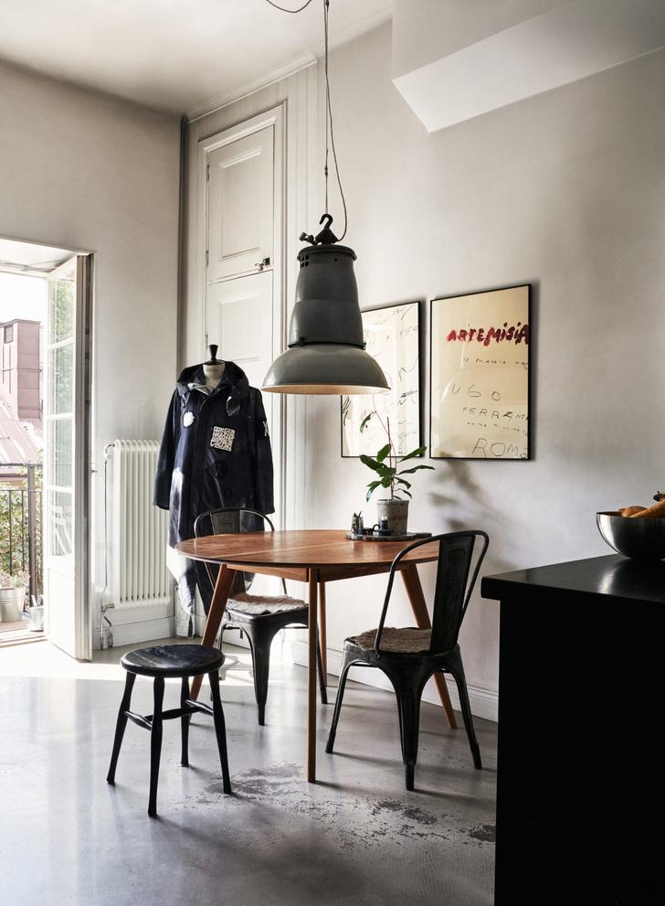 Монохромная квартира для дизайнера в Стокгольме (фото 10)