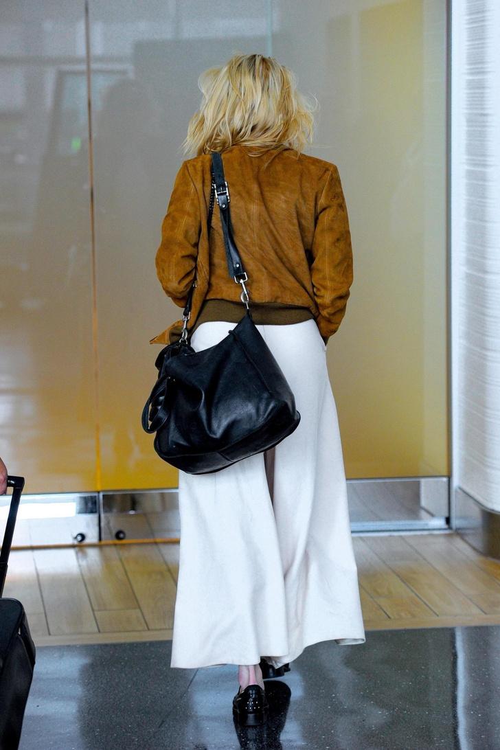 Широкие, очень широкие кремовые брюки Эмбер Херд (фото 2)