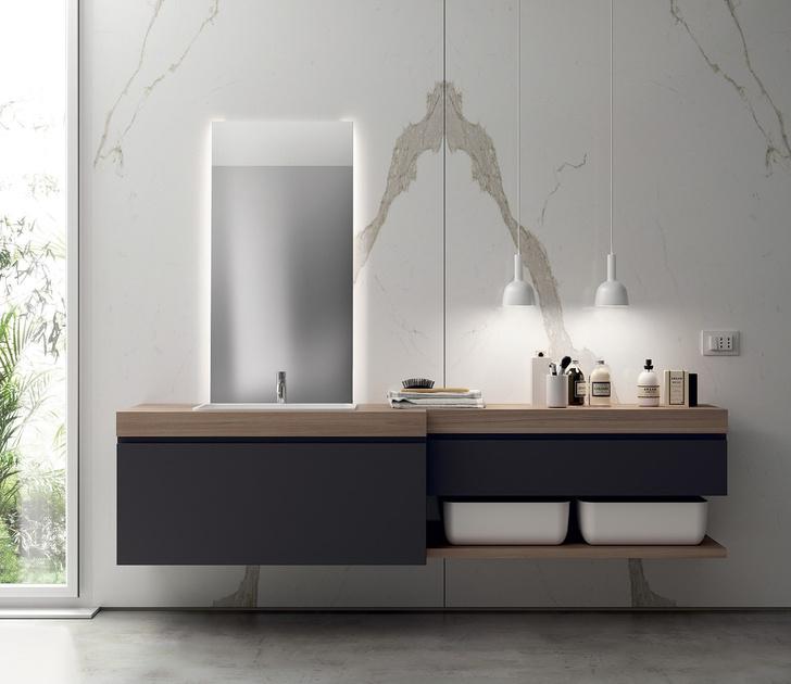 Топ 12: освещение в ванной. Мебель, зеркала, душевые лейки и ванны со встроенной подсветкой (фото 25)