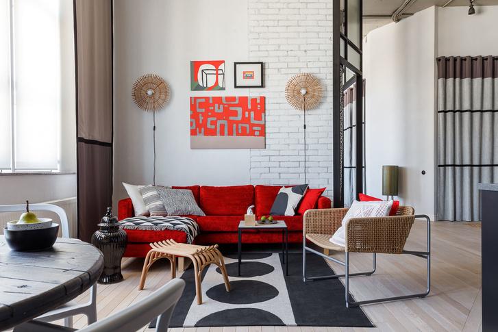 Яркая квартира 84 м² в Краснодаре (фото 0)