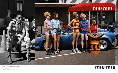 Miu Miu выпустили рекламу с Даутцен Крез и Эль Фаннинг в роли гонщиц | галерея [1] фото [6]