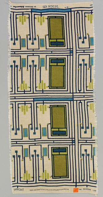 Ткани по дизайну Фрэнка Ллойда Райта на выставке в Нью-Йорке (фото 4.2)
