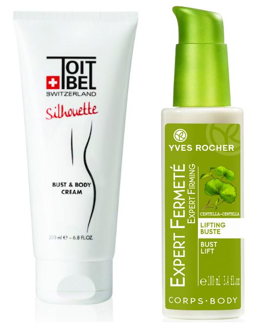 Крем для ухода за кожей груди и тела Bust & Body cream от Toitbel; Уход «Лифтинг для бюста» от Yves Rocher
