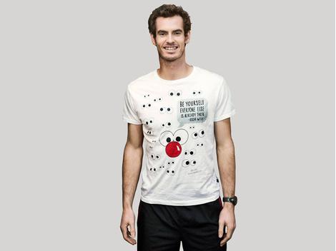 Известные дизайнеры создали футболки ко Дню красного носа | галерея [2] фото [11]