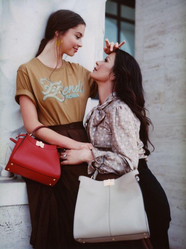 Ген красоты: Кэтрин Зета-Джонс и ее дочь Кэрис в первой совместной съемке (фото 3)