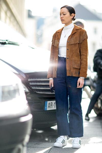С чем носить джинсы осенью фото | галерея [3] фото [3]