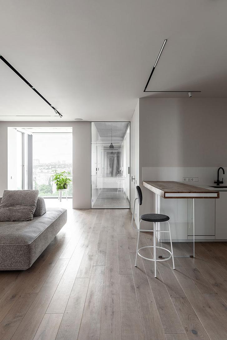 Лаконичная квартира 78 м² для холостяка в Киеве (фото 0)