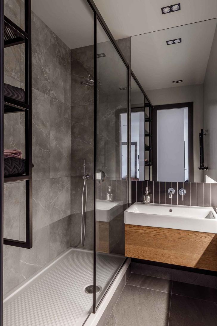 Современная интерпретация стиля mid-century для двухкомнатной квартиры в Краснодаре (фото 18)