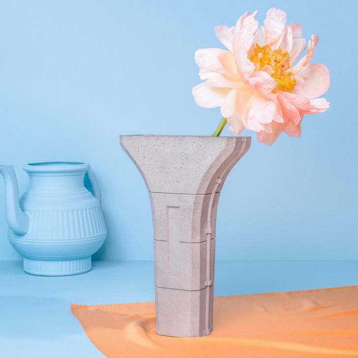 Бруталистические цветочные горшки от студии Tiipoi (фото 9)