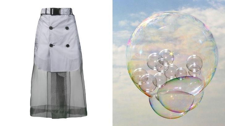 Transparent spring: прозрачная юбка Maison Margiela (фото 1)