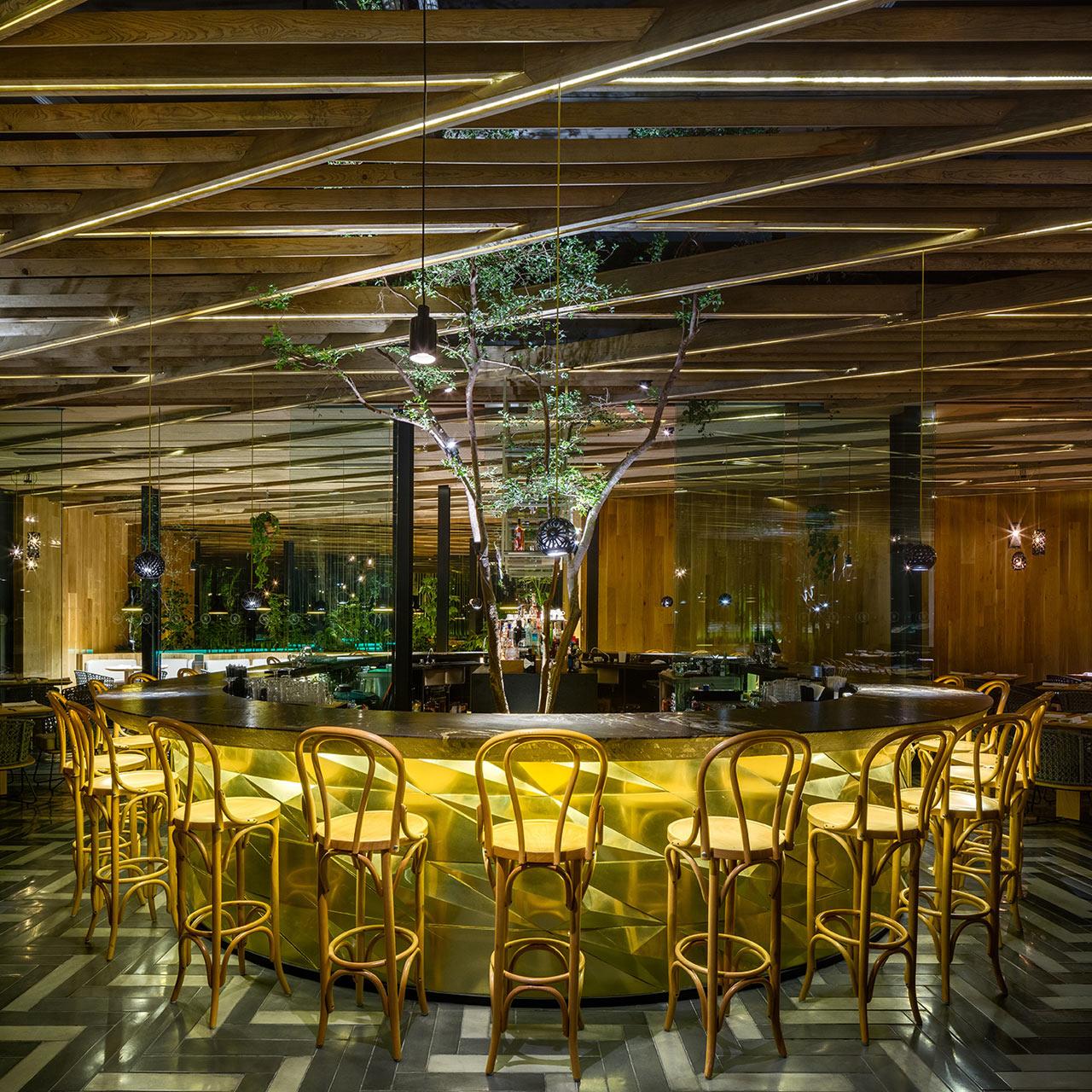 Дерево и стекло: современный ресторан в Мехико (галерея 5, фото 1)