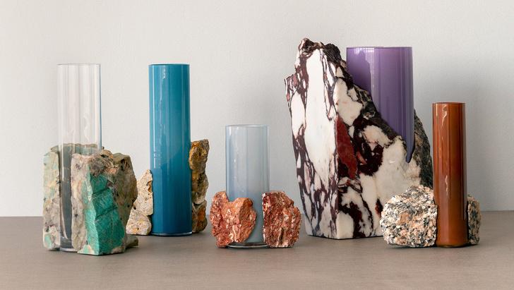 Стекло и мрамор: оригинальные вазы студии Studio EO (фото 0)