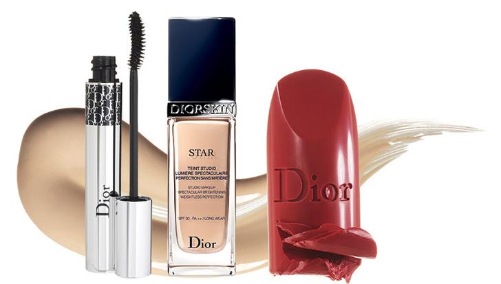 Выбор Натали Портман: тон Diorskin Star, 020, тушь Diorshow Iconic Overcurl,694, помада Rouge Dior, 941, все — Dior