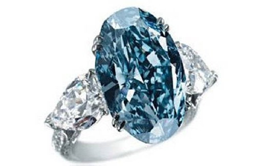 Кольцо Chopard Blue Diamond, $16,2 млн